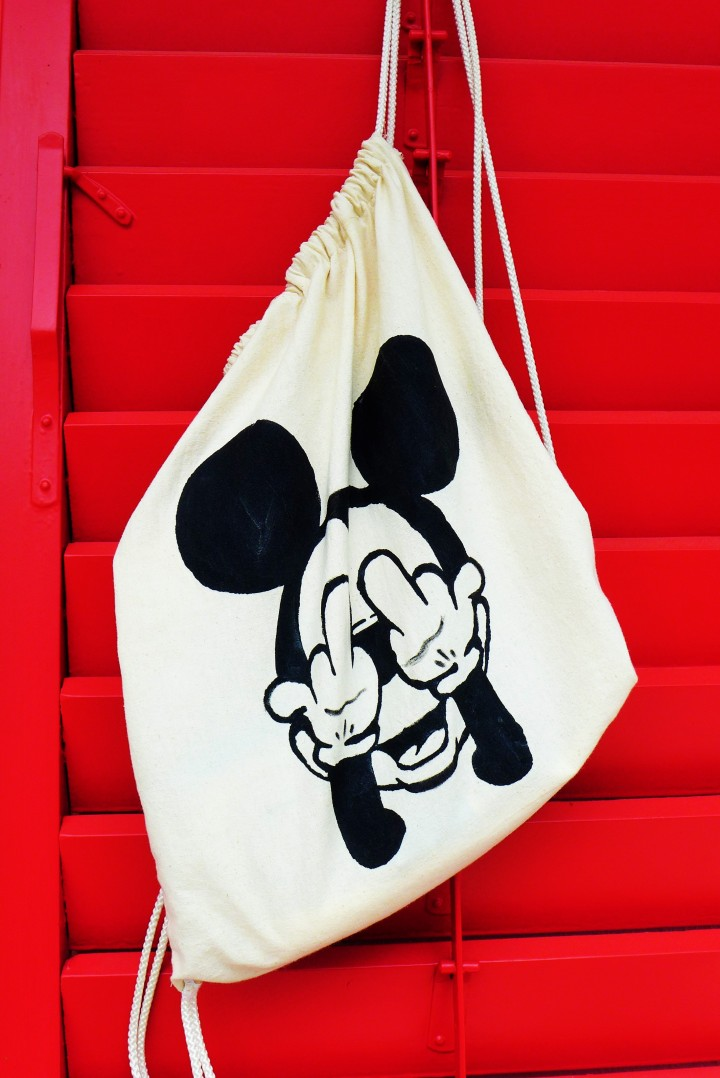 DIY Mickey Mouse Beutel // Backpack