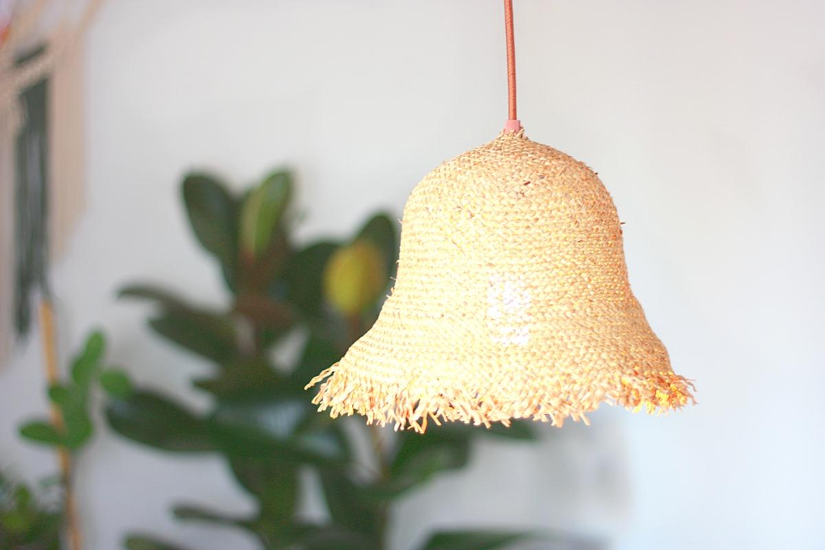 DIY: Lampenschirm aus einem Strohhut