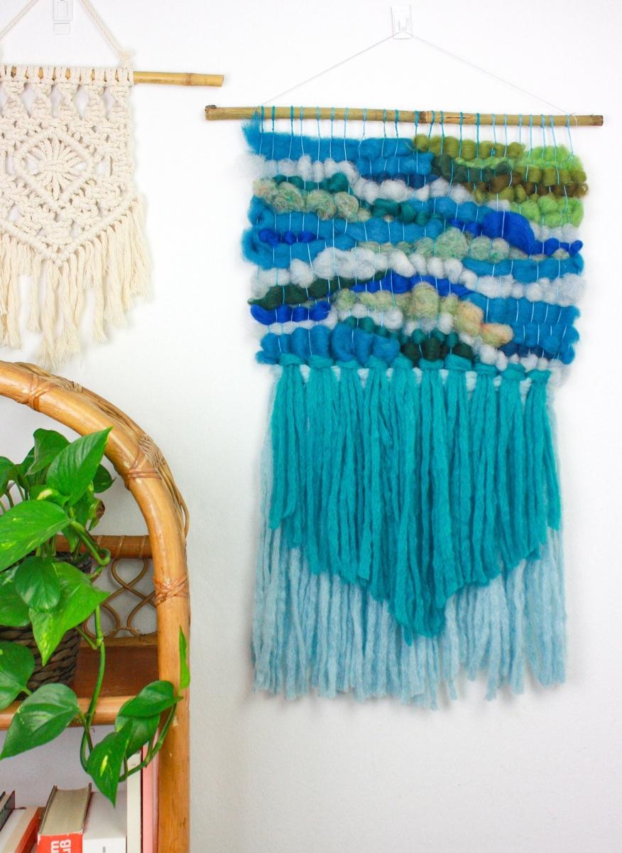 DIY: Wandteppich aus Filzwolle weben