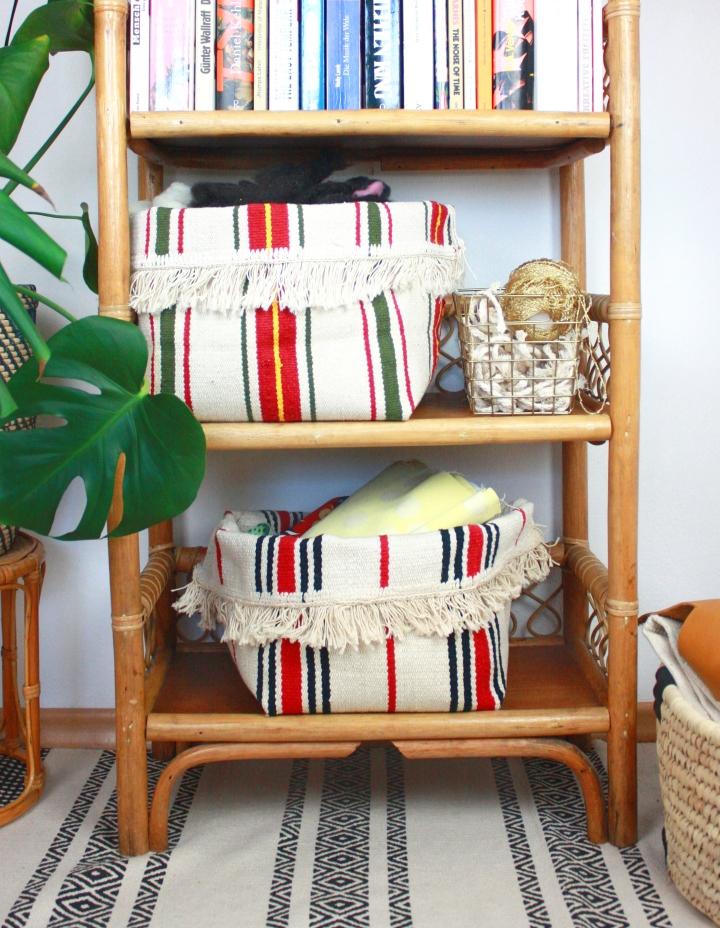 DIY: Aufbewahrungskorb aus einem Teppichnähen