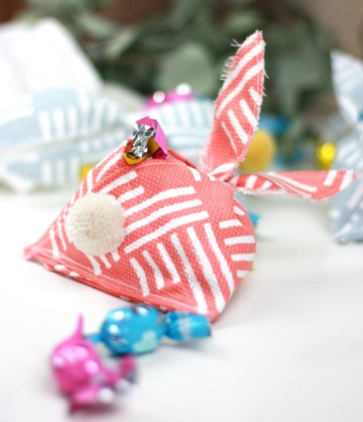 DIY: Hasen-Präsent-Täschchen für Osternnähen