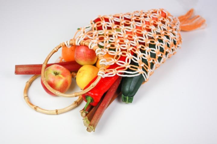 DIY Makramee Einkaufsnetz mitBambusgriffen